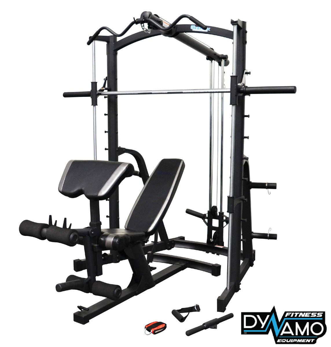 Home gym smith machine linear bearing lat pull down fid