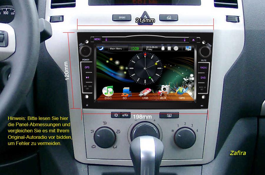 Es1071de 7 hd car dvd gps wifi 3g ipod autoradio opel for Opel astra h interieur