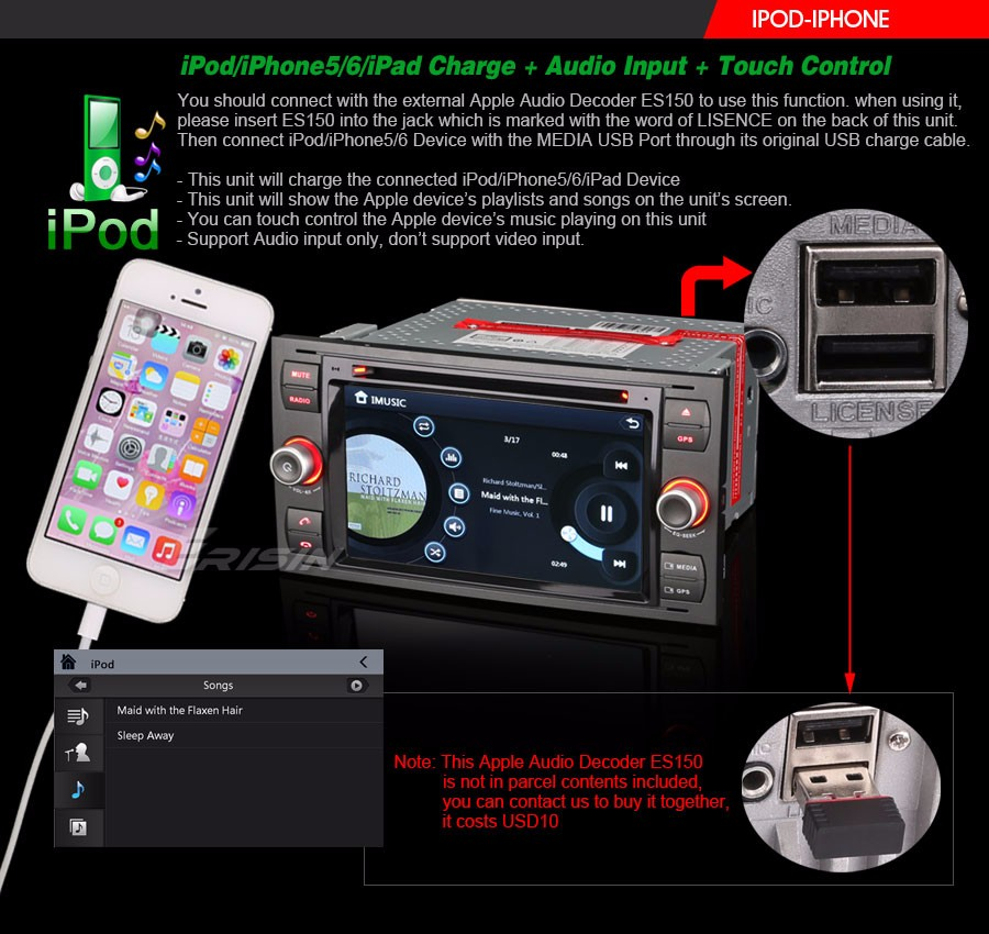 how to connect iphone4 to ford audio. Black Bedroom Furniture Sets. Home Design Ideas