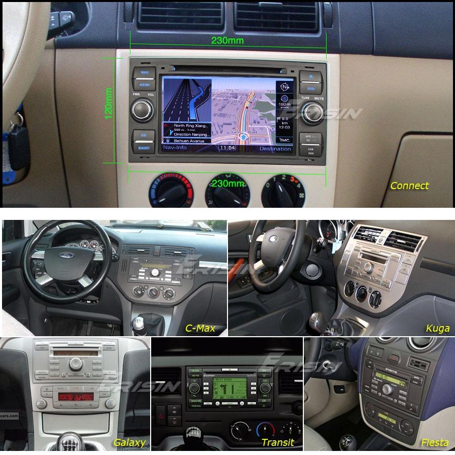 7 inch erisin sat nav dvd car stereo ford fiesta focus mondeo s max kuga 7301 gb ebay