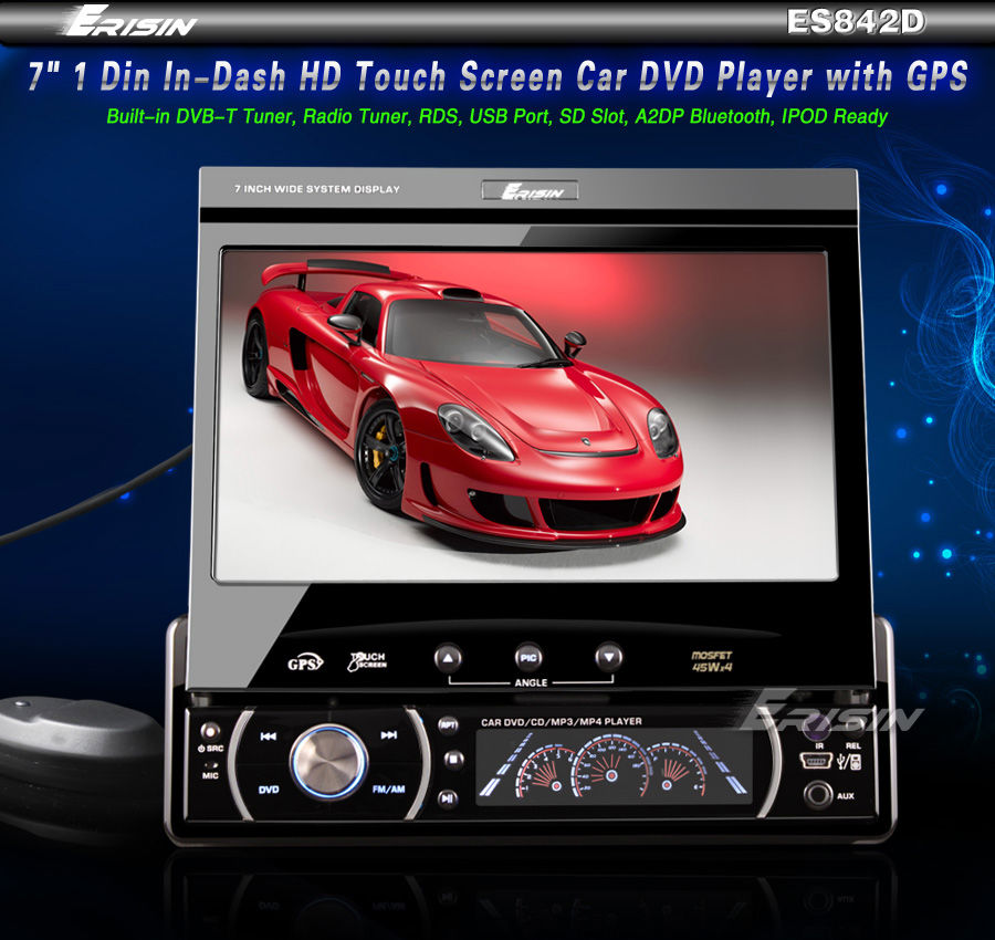 ES842EU 7 1 Din In Dash HD Touch Screen Car DVD Player GPS Sat Nav