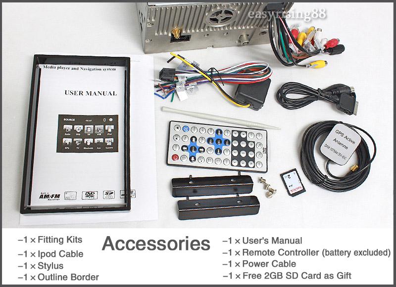 ES901US 7 2 Din Digital Screen Car GPS Car DVD Player