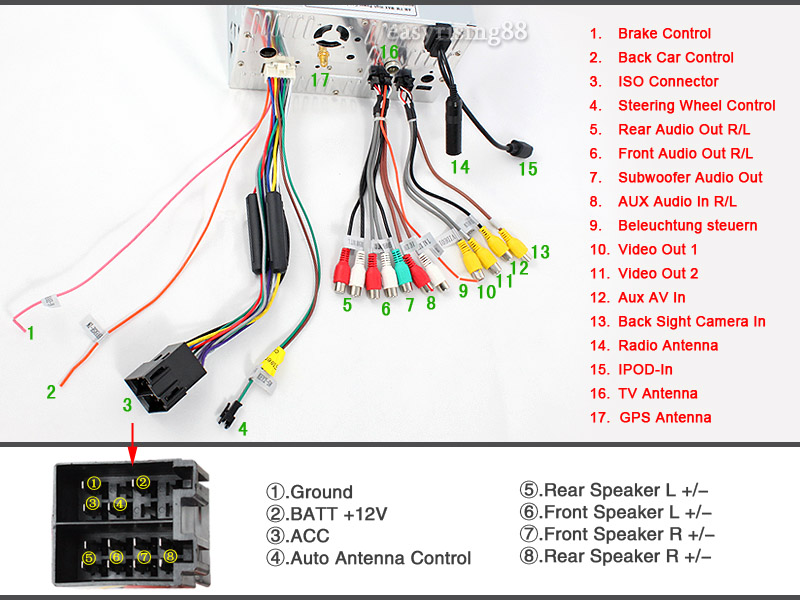 ES952G E9 can someone please help me with my radio installation? nissan 350z wiring harness diagram at creativeand.co
