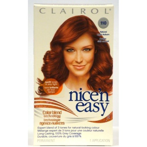 5 clairol nice 39 n easy color 110 natural light auburn. Black Bedroom Furniture Sets. Home Design Ideas