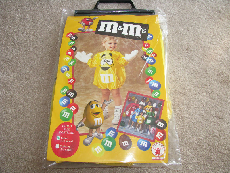 Rubies YELLOW M&Ms Halloween Costume M&M Infant Baby Size 1 2 NEW ...