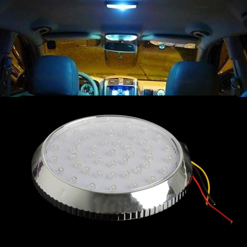 12v 46led van vehicle interior roof ceiling indoor dome light reading lamp white ebay. Black Bedroom Furniture Sets. Home Design Ideas