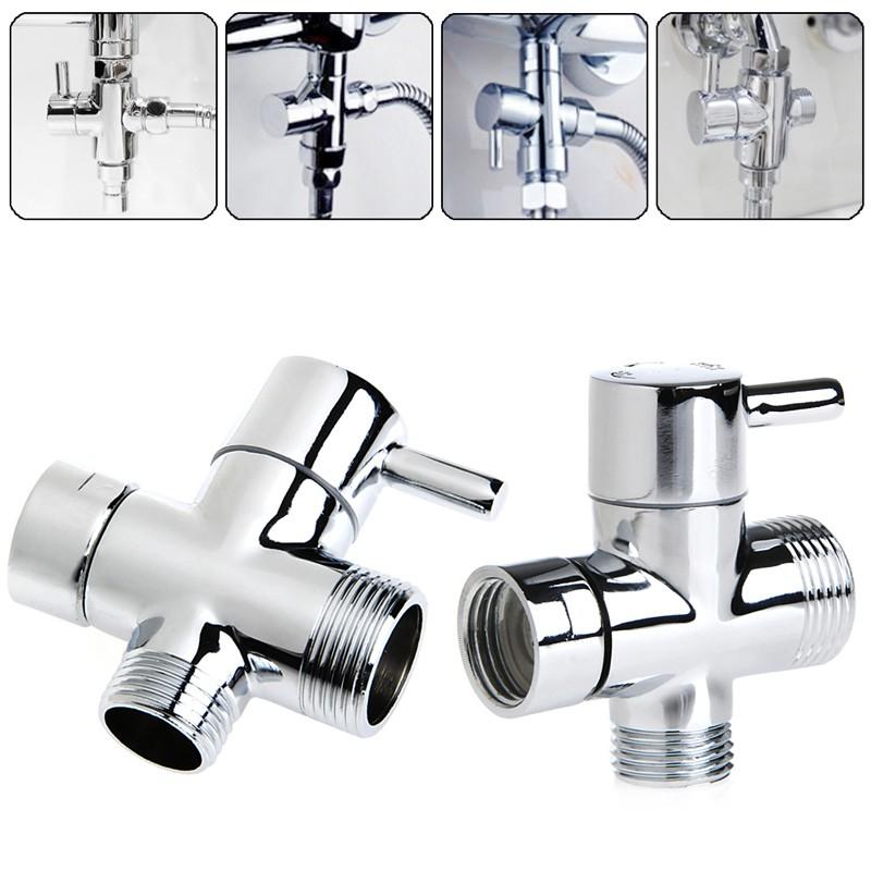 new t adapter 3 ways valve for diverter bath toilet bidet sprayer shower head ebay. Black Bedroom Furniture Sets. Home Design Ideas