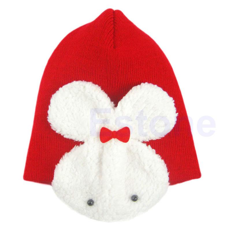 Rabbit Baby Toddler Kids Boys Girl Winter Ear Flap Warm Hat Beanie Cap Crochet