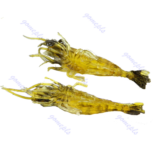 2pcs 45mm soft prawn shrimp bait fluke fishing for Fluke fishing bait