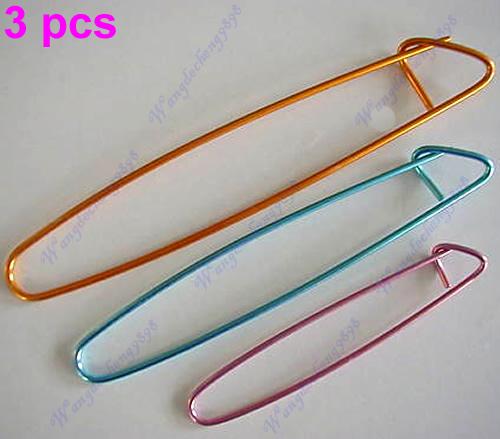 Knitting Needle Stitch Holder : Set 3Pcs Aluminum Crochet Knit Knitting Needle Stitch Holder Yarn Craft L/M/S...