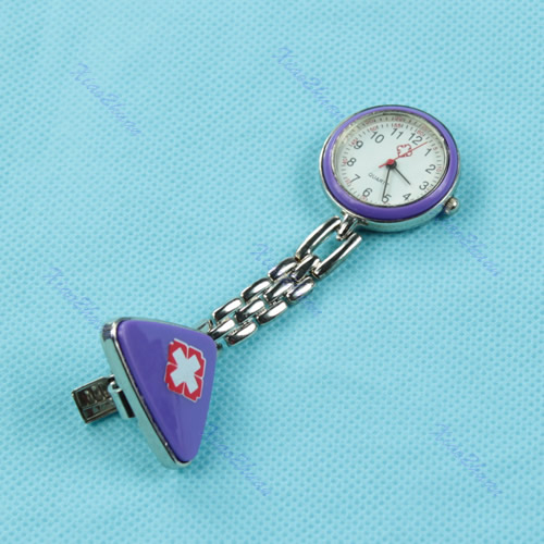 Cross-Red-Triangle-Nurse-Clip-Fob-Brooch-Pendant-Hanging-Pocket-Watch-Fobwatch