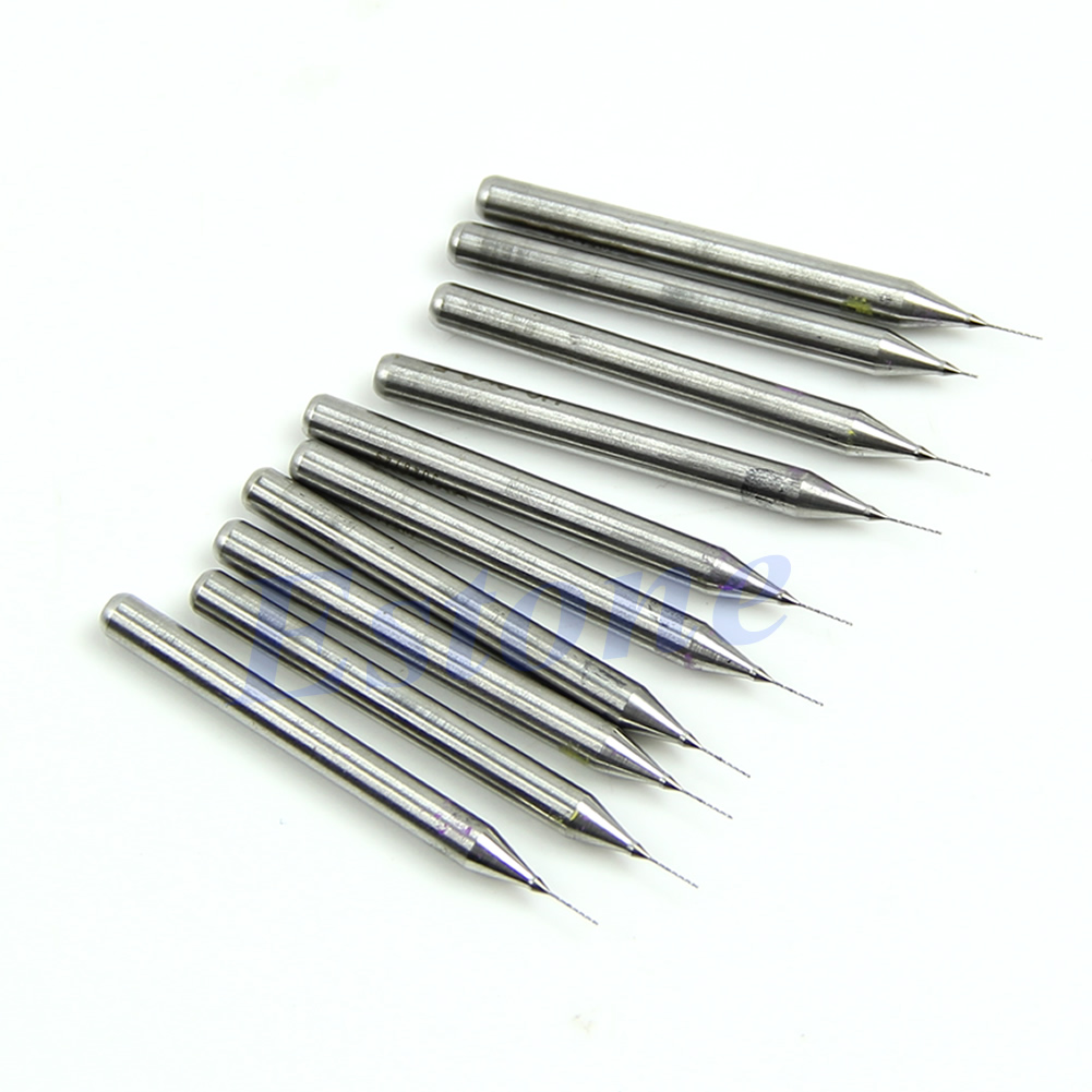New-10pcs-0-2mm-Carbide-Steel-Micro-Engraving-Drill-Bits-Tool-CNC-PCB-Dremel