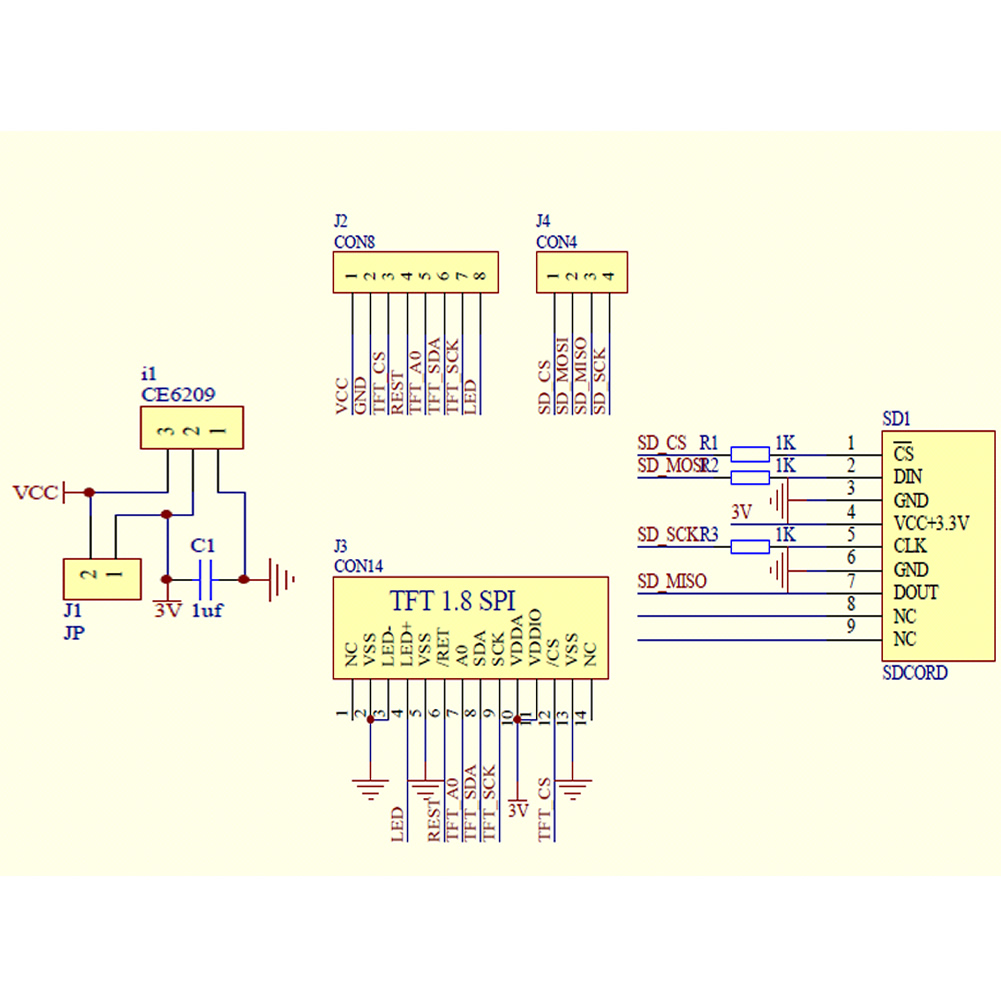 "8"" tft lcd display module st7735s 128x160 51/avr/stm32/arm 8/16"