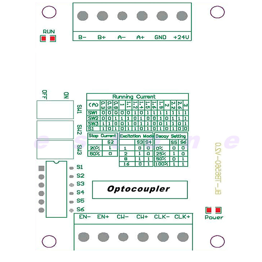 1 axis controller stepper motor drivers tb6560 3a driver for Tb6560 stepper motor driver manual