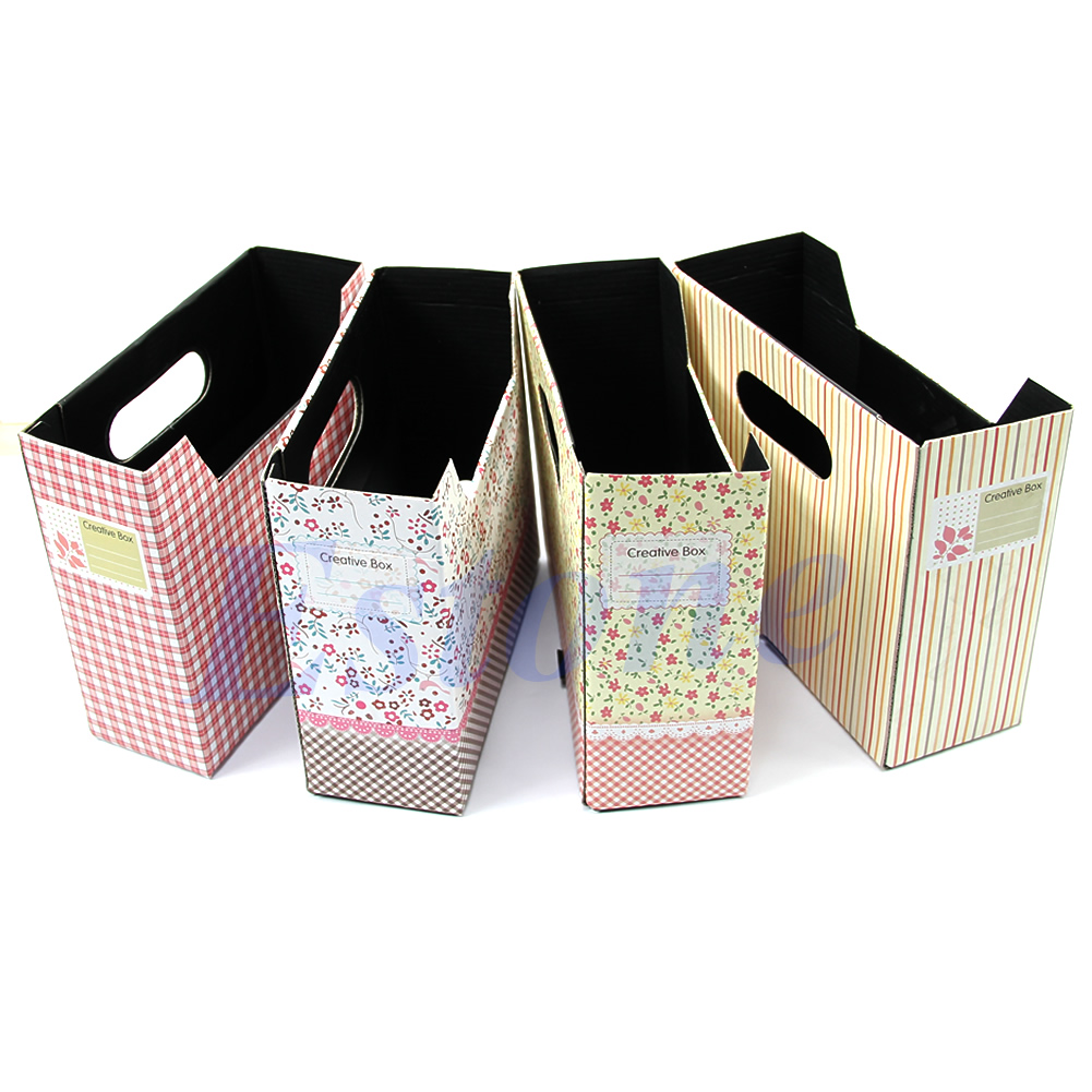 Cute-Paper-Board-Storage-Box-Desk-Decor-Organizer-Makeup-Cosmetic-Stationery-DIY