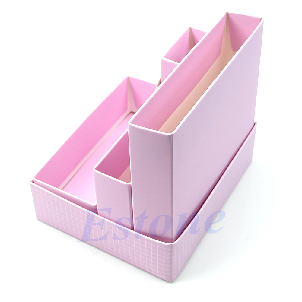 Diy makeup cosmetic stationery paper board storage box - Desk organizer box ...