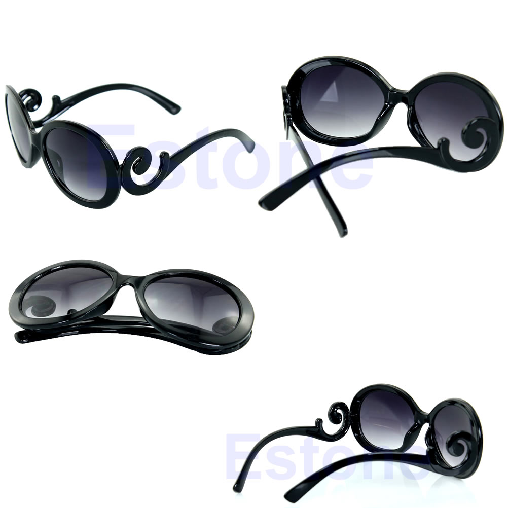 Hot-Retro-inspired-Womens-Butterfly-Clouds-Arms-Sunglasses-Semi-Tranparent-Round