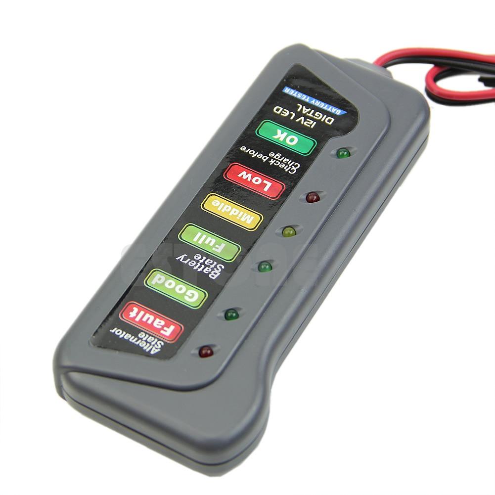 Electronic Tester Showing Failure Lights : Digital battery v alternator tester with led lights