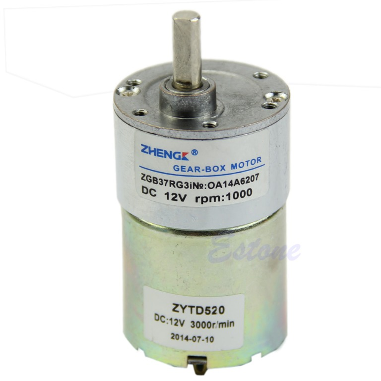 12v dc 1000 rpm high power torque gear box control speed for 1000 rpm dc motor