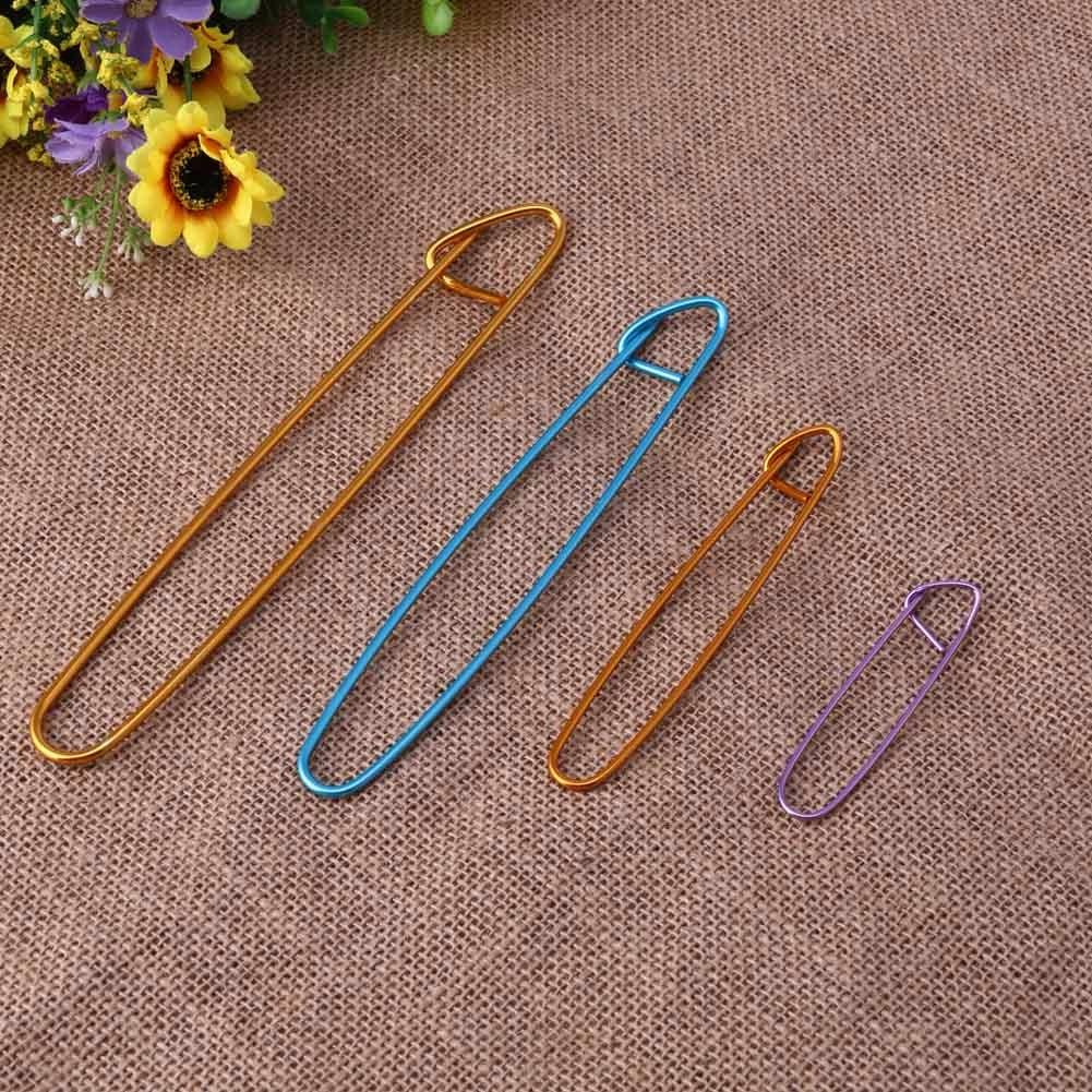 Knitting Needle Stitch Holder : 4 Pcs Aluminum Knit Knitting Needles Stitch Holders Safety Pins Crochet Hooks