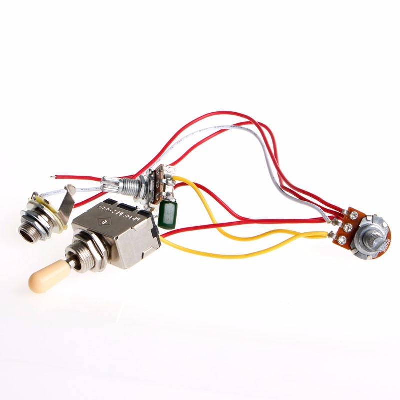 new guitar wiring harness 3 way toggle switch 1v1t 500k volume new guitar wiring harness 3 way toggle switch 1v1t 500k volume tone jack for lp