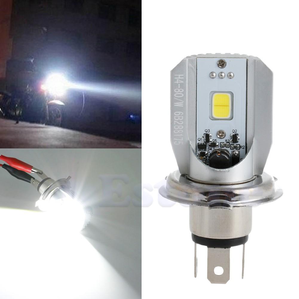12w h4 led moto lampe frontale lumi re cob ampoule moto phare dc 6 80v ebay. Black Bedroom Furniture Sets. Home Design Ideas
