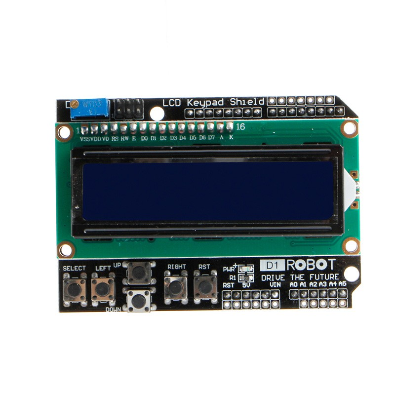 Lcd keypad shield module display for arduino