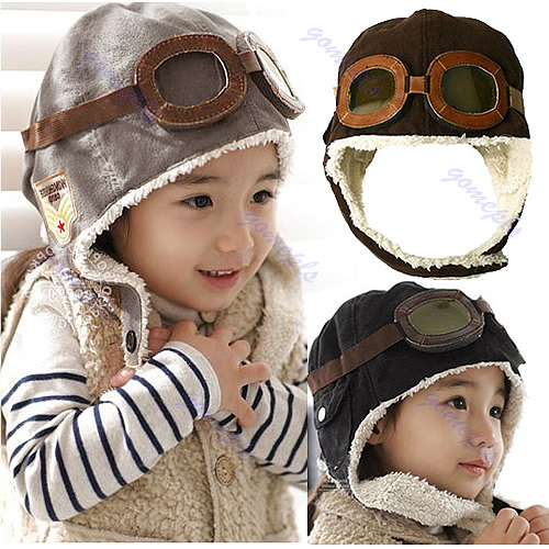 New-Cute-Baby-Toddler-Boy-Girl-Kids-Pilot-Aviator-Cap-Warm-Hats-Earflap-Beanie