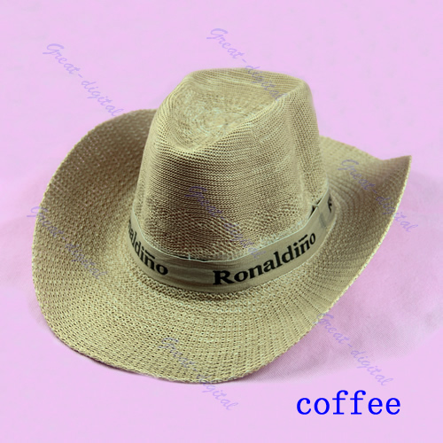 New western cowboy cattleman guatemalan leaf straw hat for Fishing straw hat