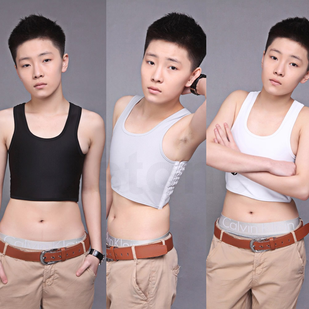 Casual-Breathable-Buckle-Short-Chest-Breast-Binder-Trans-Lesbian-Tomboy-5-Sizes