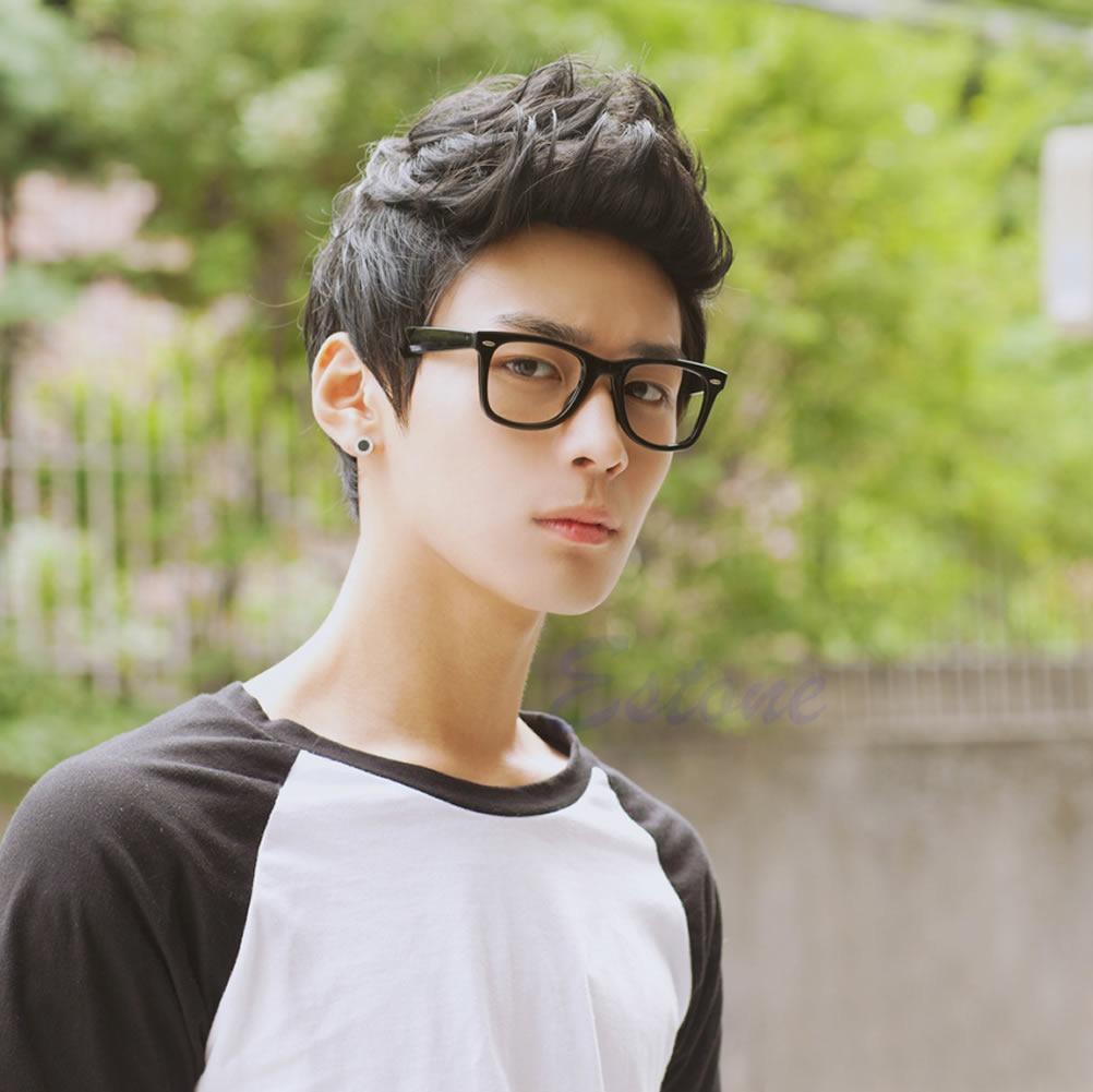 Vogue Sexy Men Korean Handsome Black Short Hair Cosplay