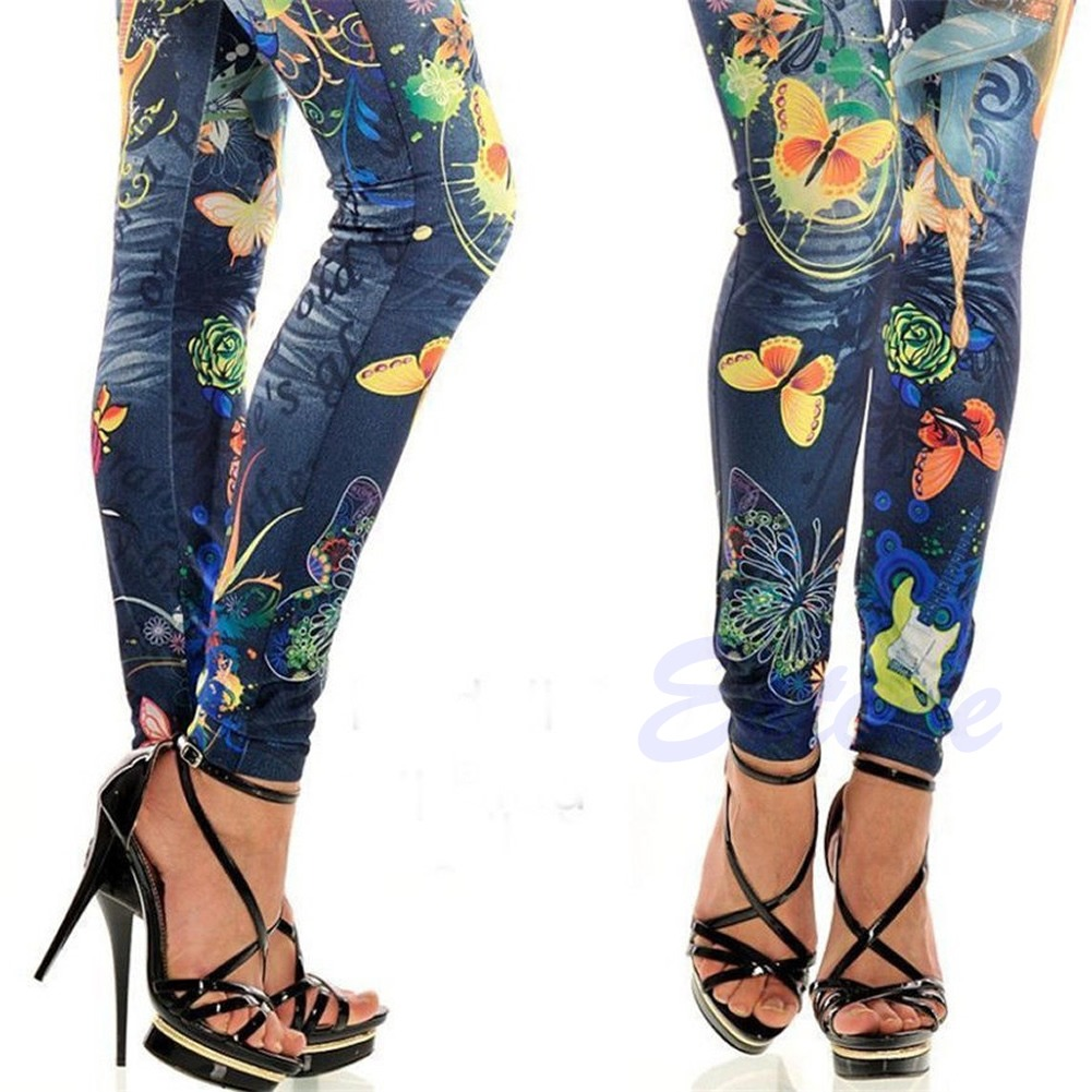 Sexy Womens Leggings Jeans Jeggings Slim Skinny Stretchy ...