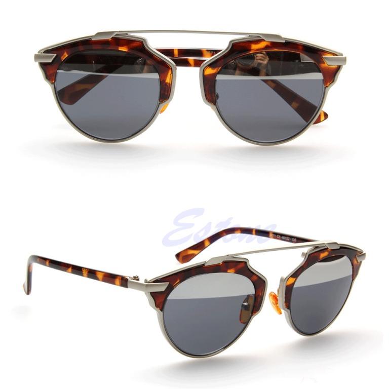 designer oversized sunglasses  Men Women Cat Eye Mirror Vintage Christian Designer Oversized ...