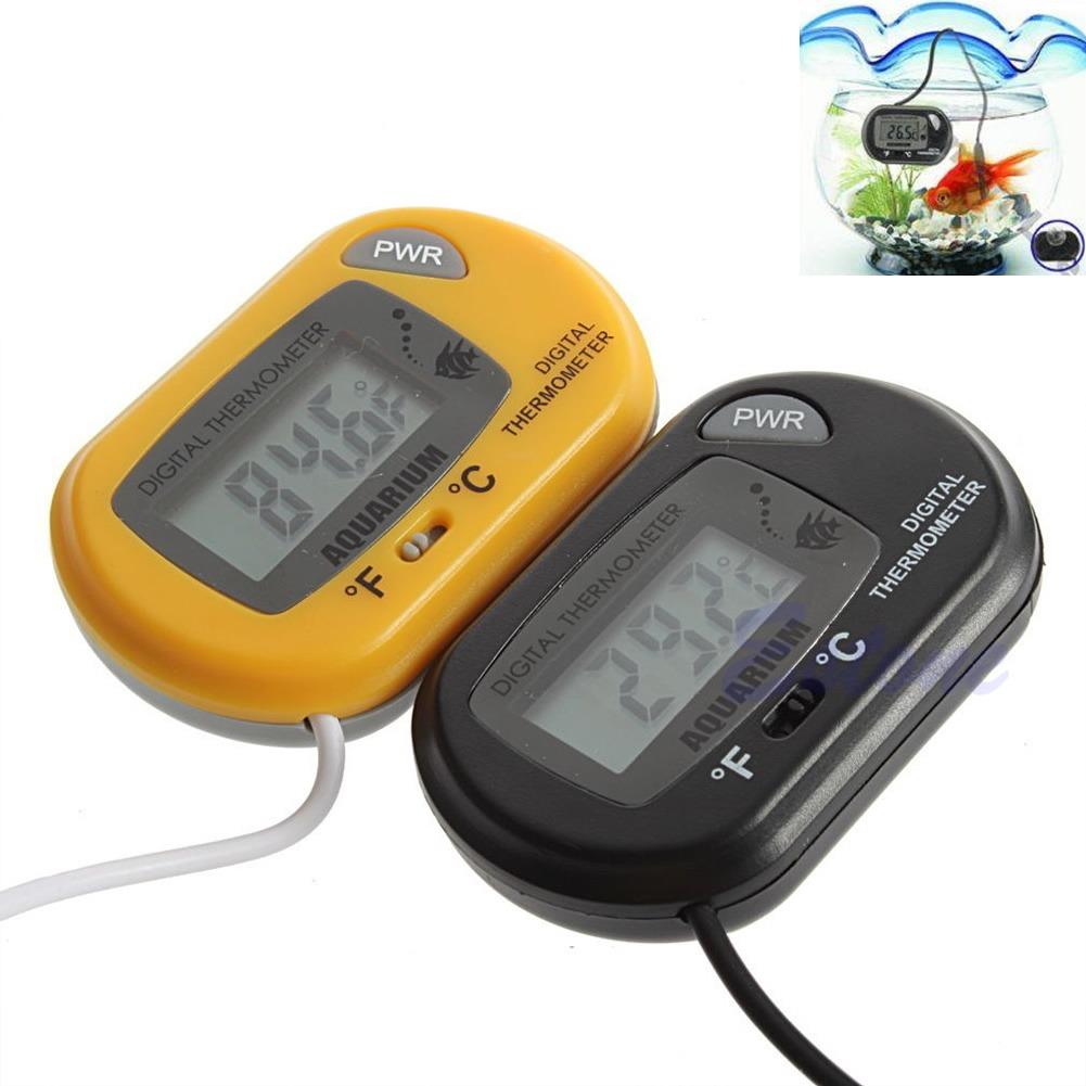 Digital lcd temperature meter thermometer for aquarium for Temperature for fish