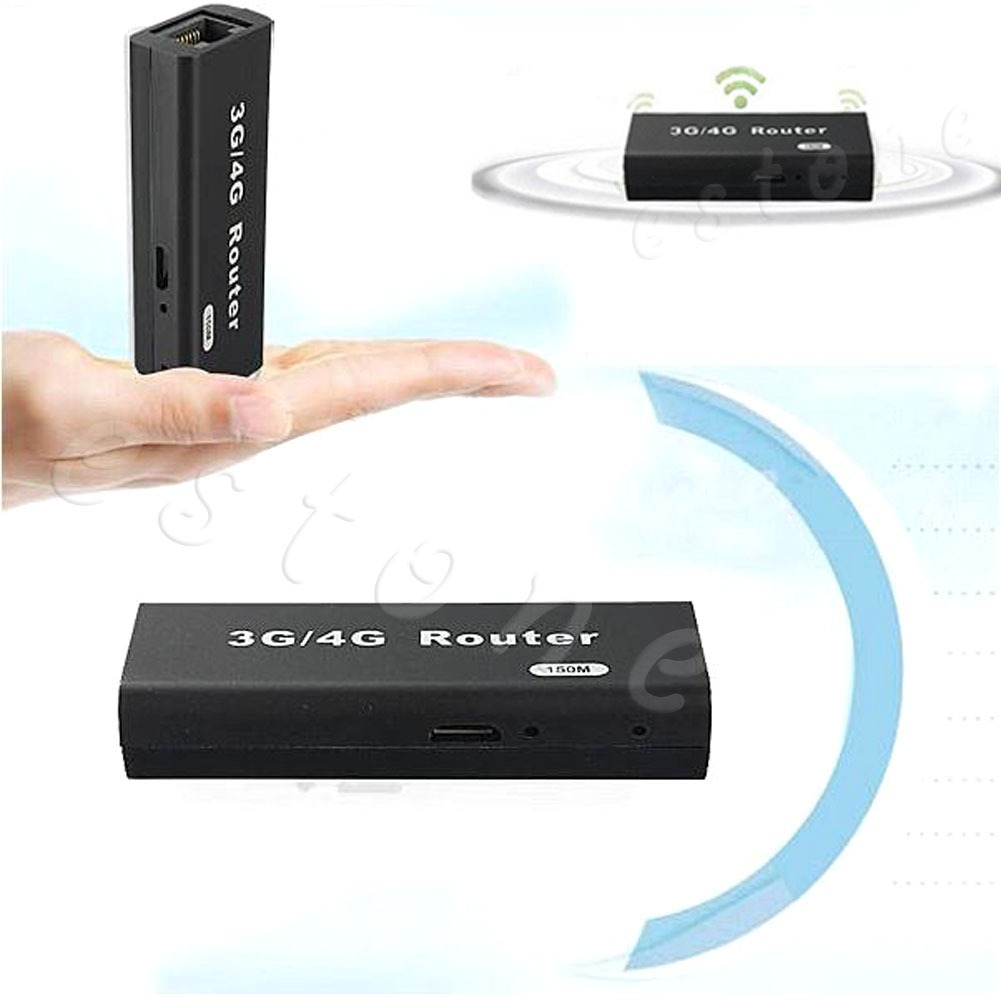 mini portable 3g 4g wifi wlan hotspot ap client 150mbps rj45 usb wireless router ebay. Black Bedroom Furniture Sets. Home Design Ideas