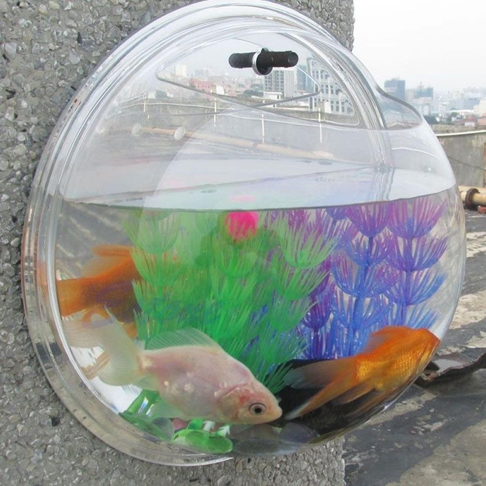 Fish aquarium for sale in pakistan - New Home Decoration Pot Wall Hanging Mount Bubble Aquarium Bowl Fish Tank 3 Size Ebay