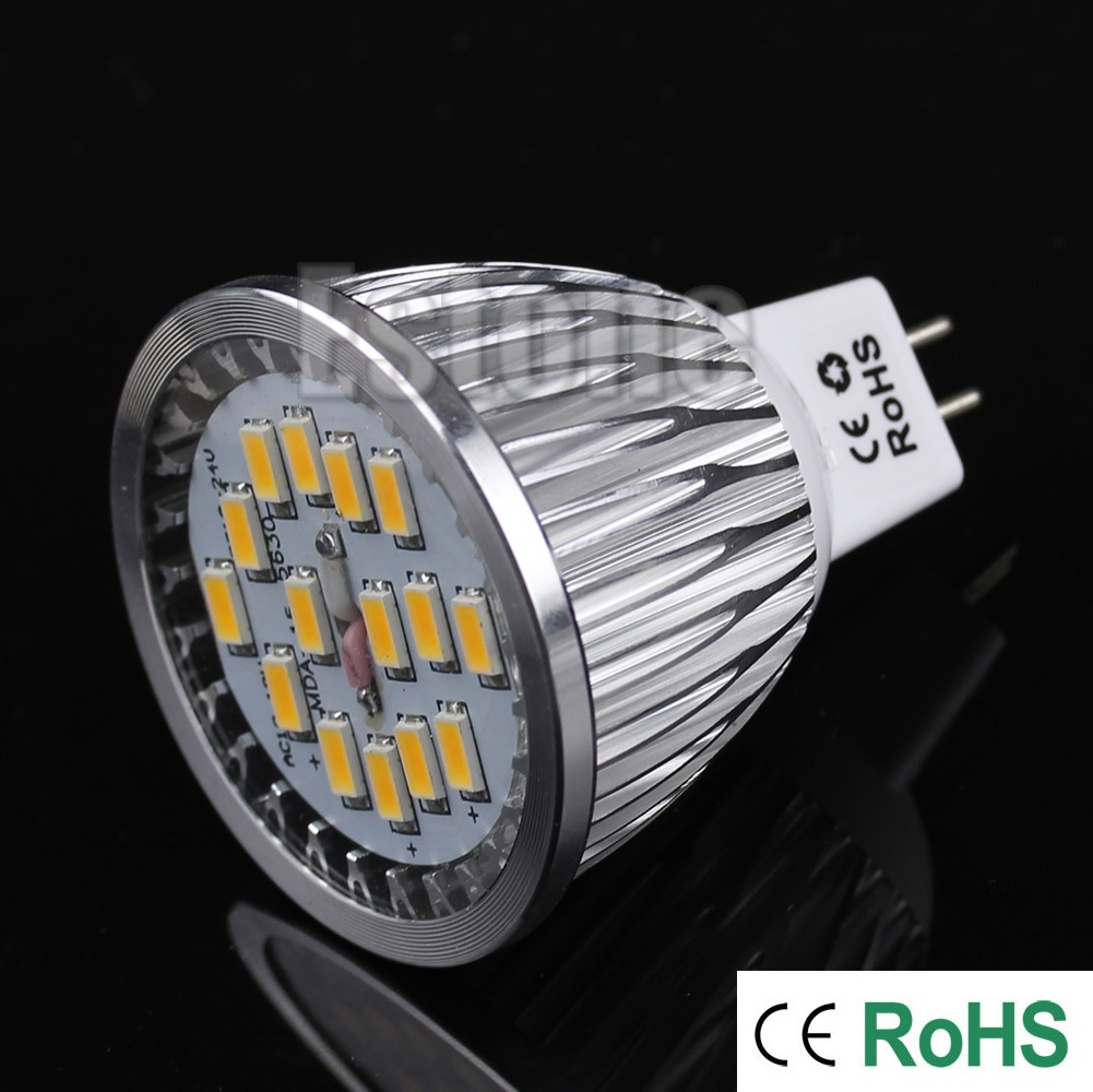 GU5.3 MR16 15-LED SMD 12W 5630 DC/AC 10-18V Spot Light Ceiling Lamp Bulb Light