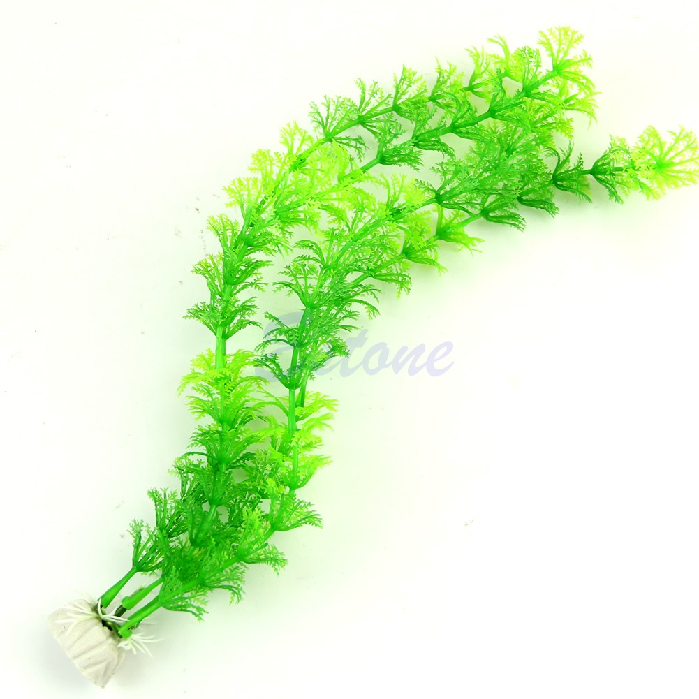 13 artificial green plastic plant grass fish tank for Artificial grass decoration