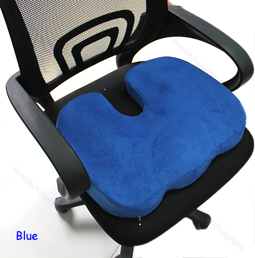 Orthopedic Deluxe Seat Solution Cushion Memory Foam Back Ache Pain Office Cha