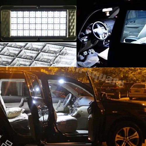 36 led white light vehicle car interior roof light cabin ceiling lamp light ebay. Black Bedroom Furniture Sets. Home Design Ideas
