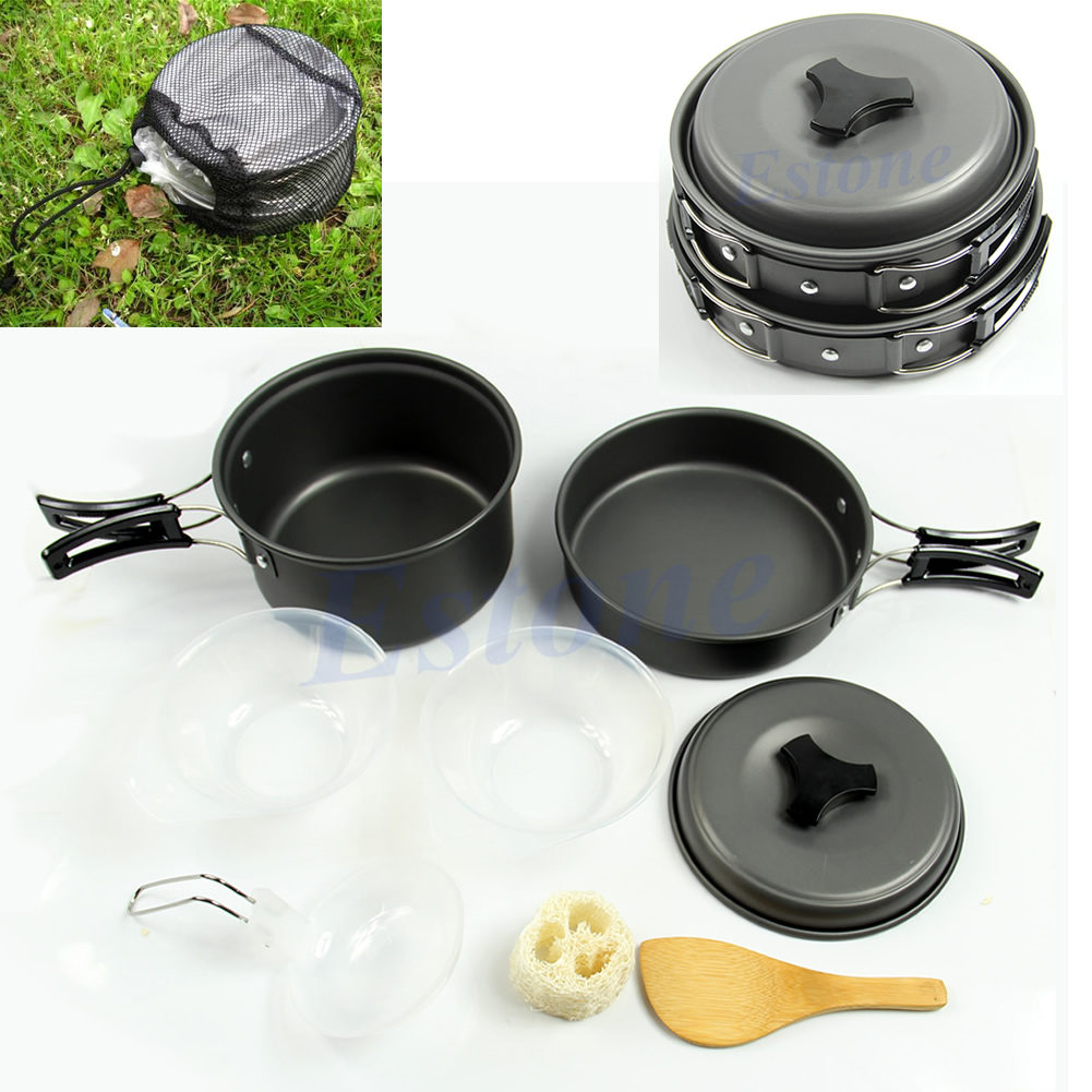 Hiking Camping: Portable Camping Cookware Backpacking Cooking Picnic Bowl