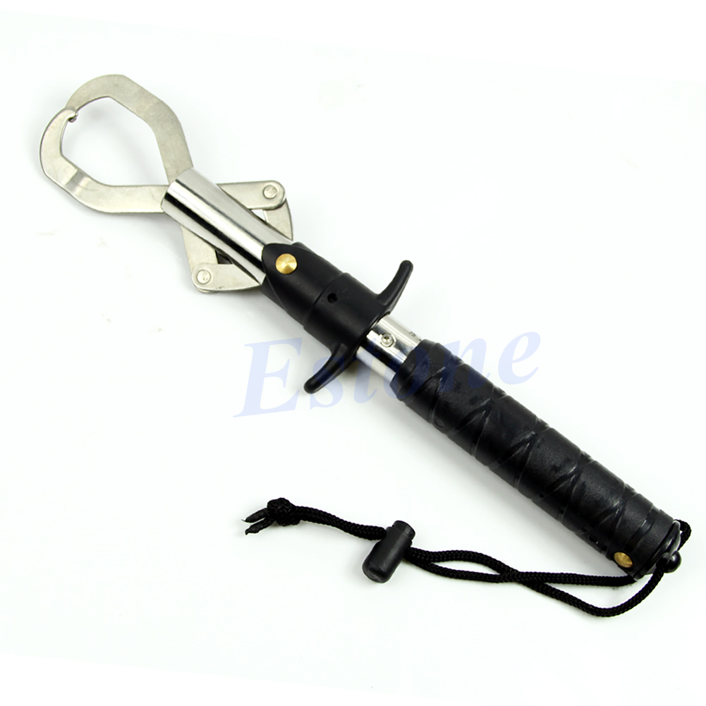 Camping travel fish fishing lip gripper grabber trigger for Fish gripper scale