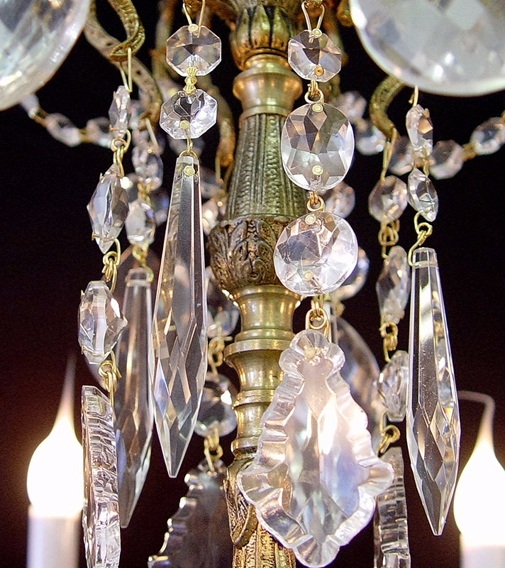 "vintage "" x "" crystal brass  light chandelier, Lighting ideas"