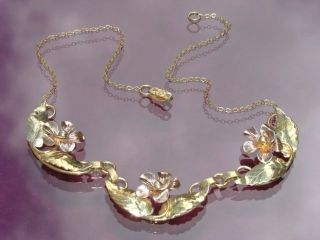 1940s sterling gold vermeil necklace