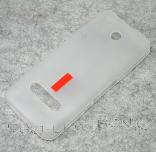 about New Grey TPU Matte Gel skin Case Cover For Nokia 301 3010