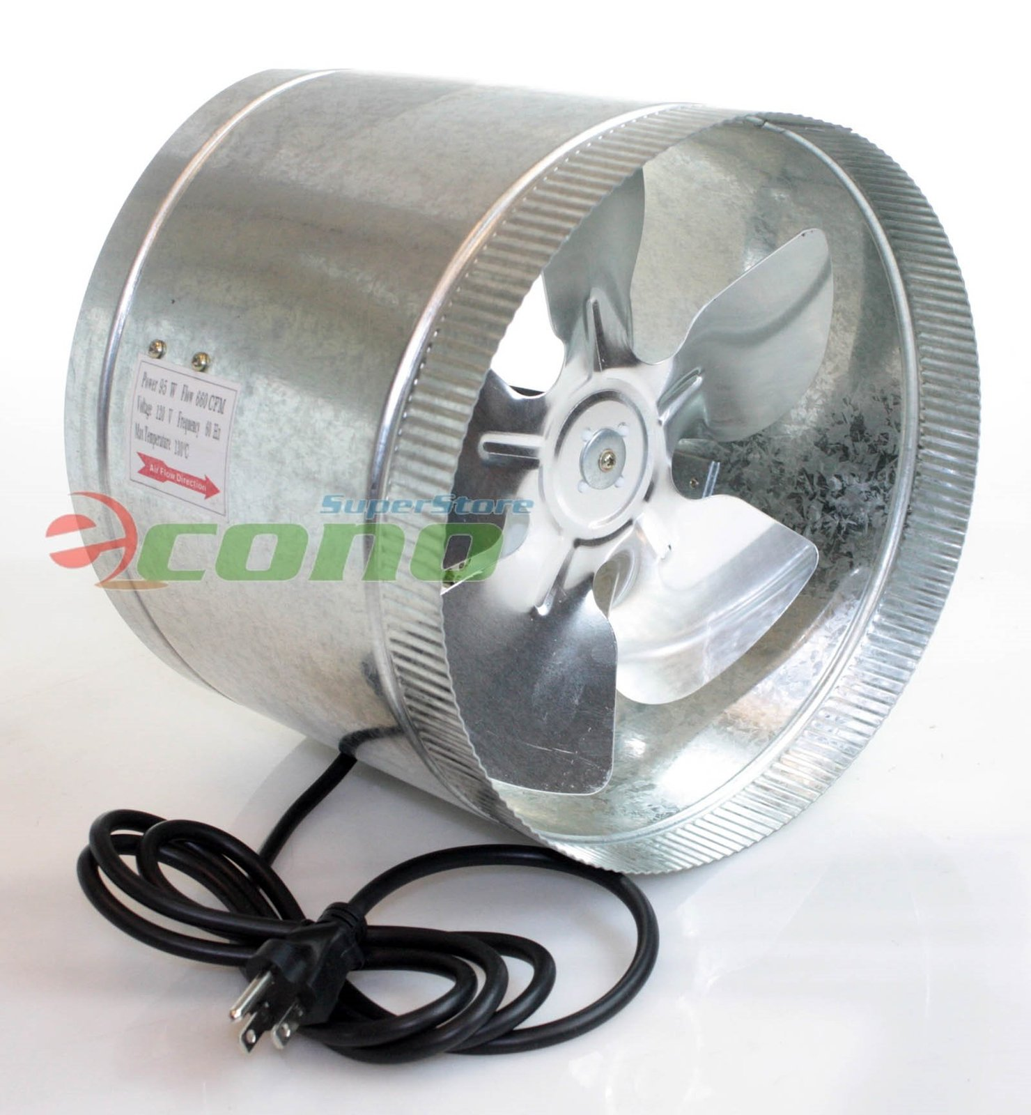 10 Inch Inline Fan : Quot inch duct booster fan exhaust vent air cooled