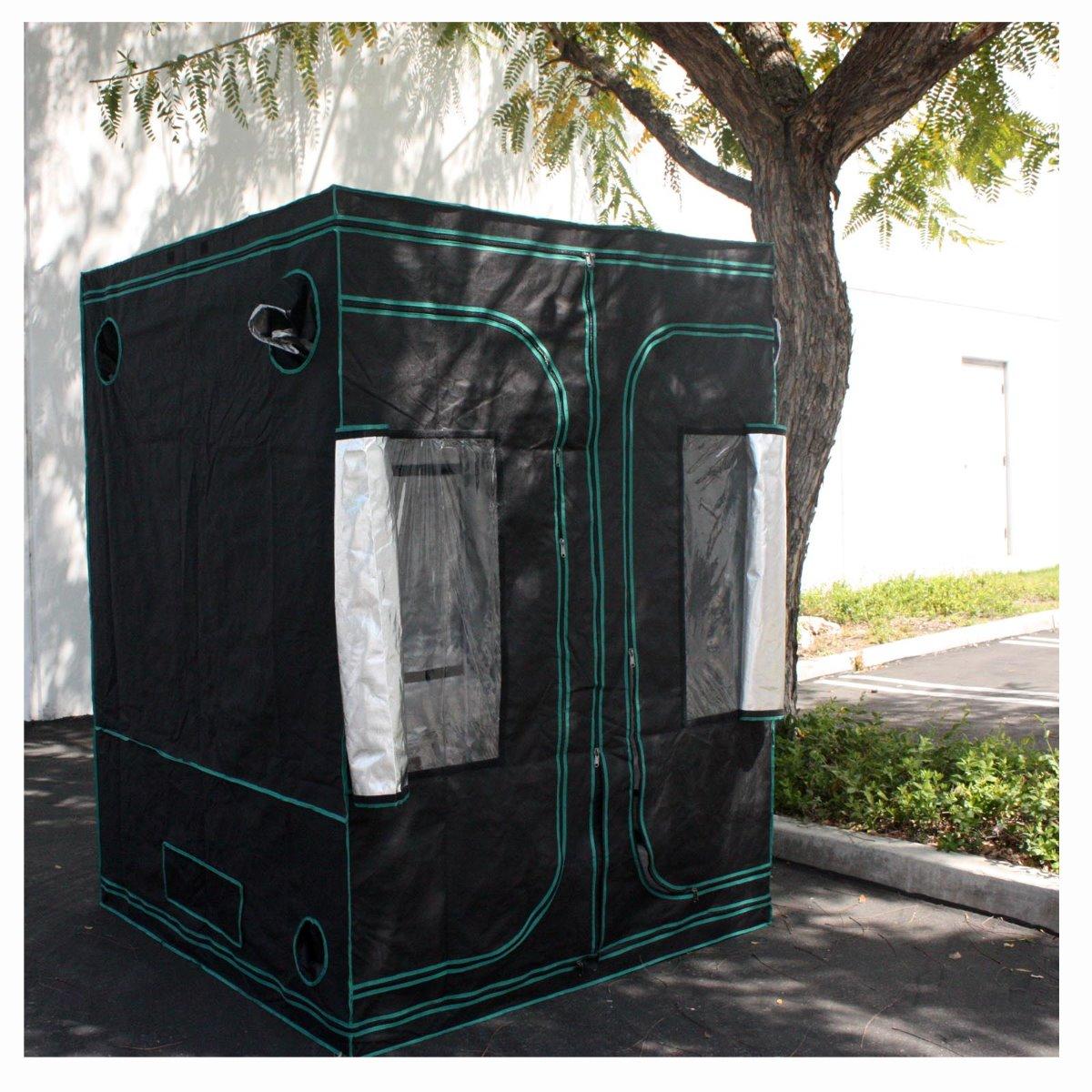 Reflective 5 39 x 5 39 x 7 39 hydroponic indoor grow room tent for Indoor gardening reflective material