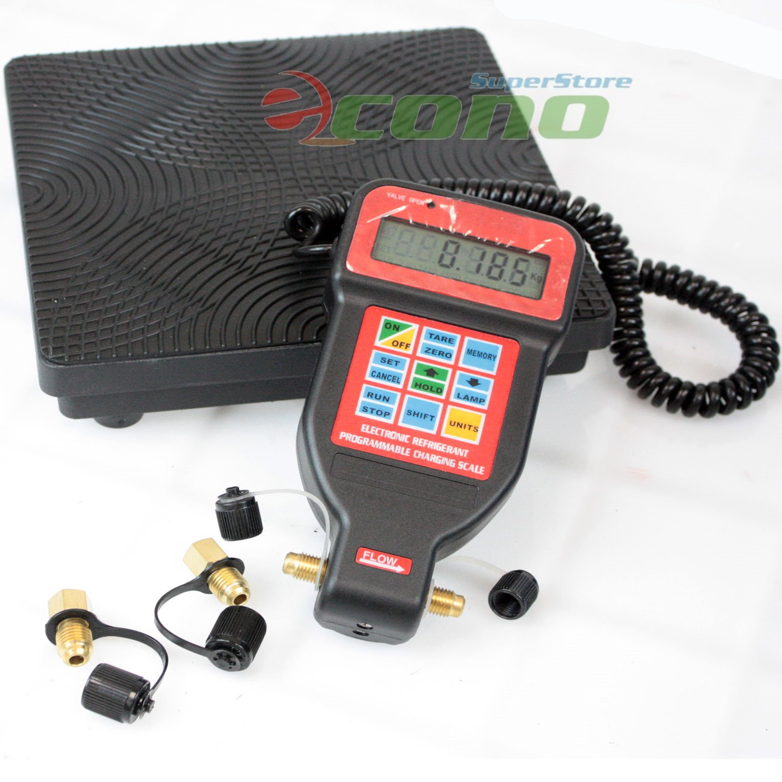 HVAC A/C Programmable Charging Refrigerant Digital Scale R22 R12 R404A  #C21B09