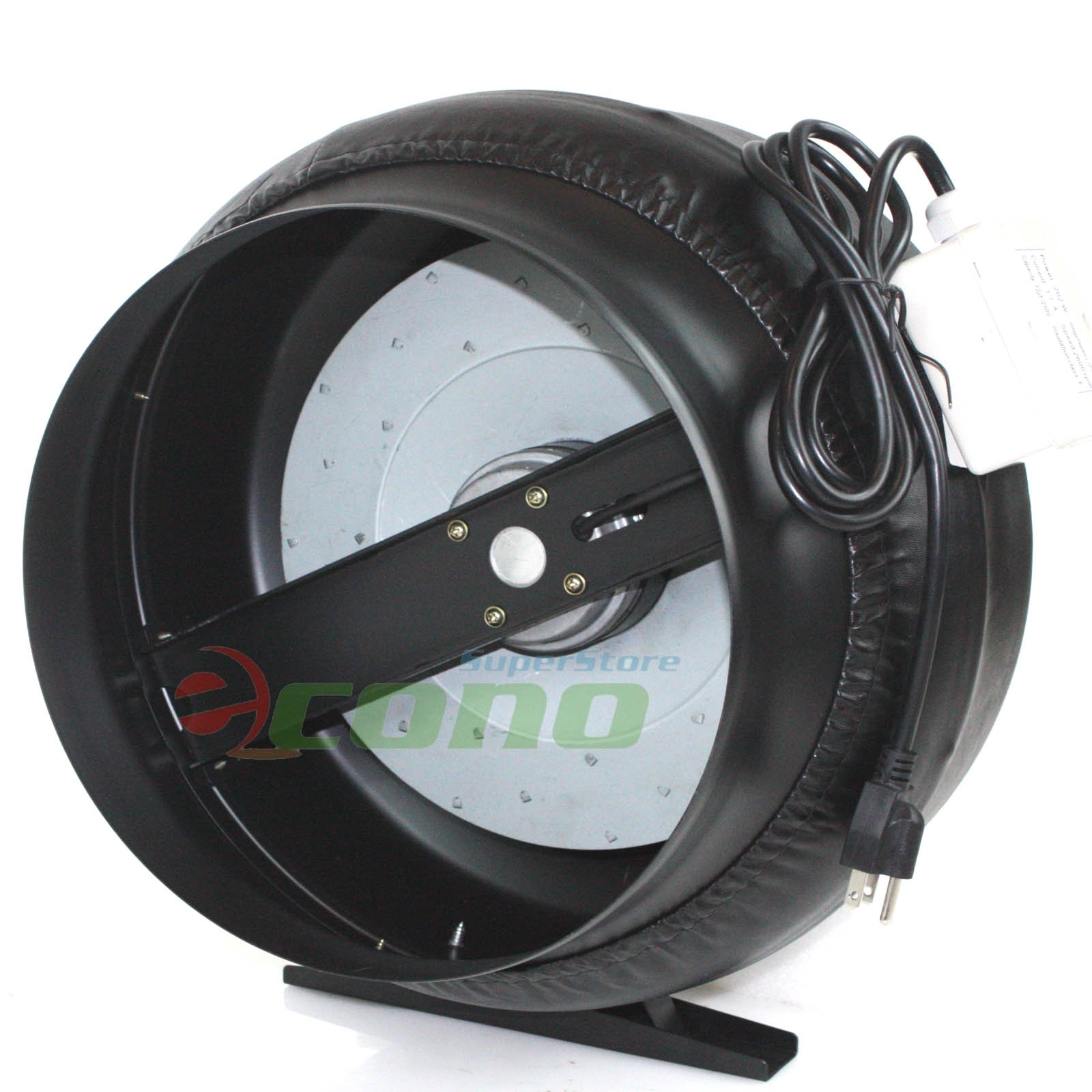 12 Inch Inline Duct Fan Vent Exhaust Air Cooled Hydroponic Fan Blower  #5D2E2A