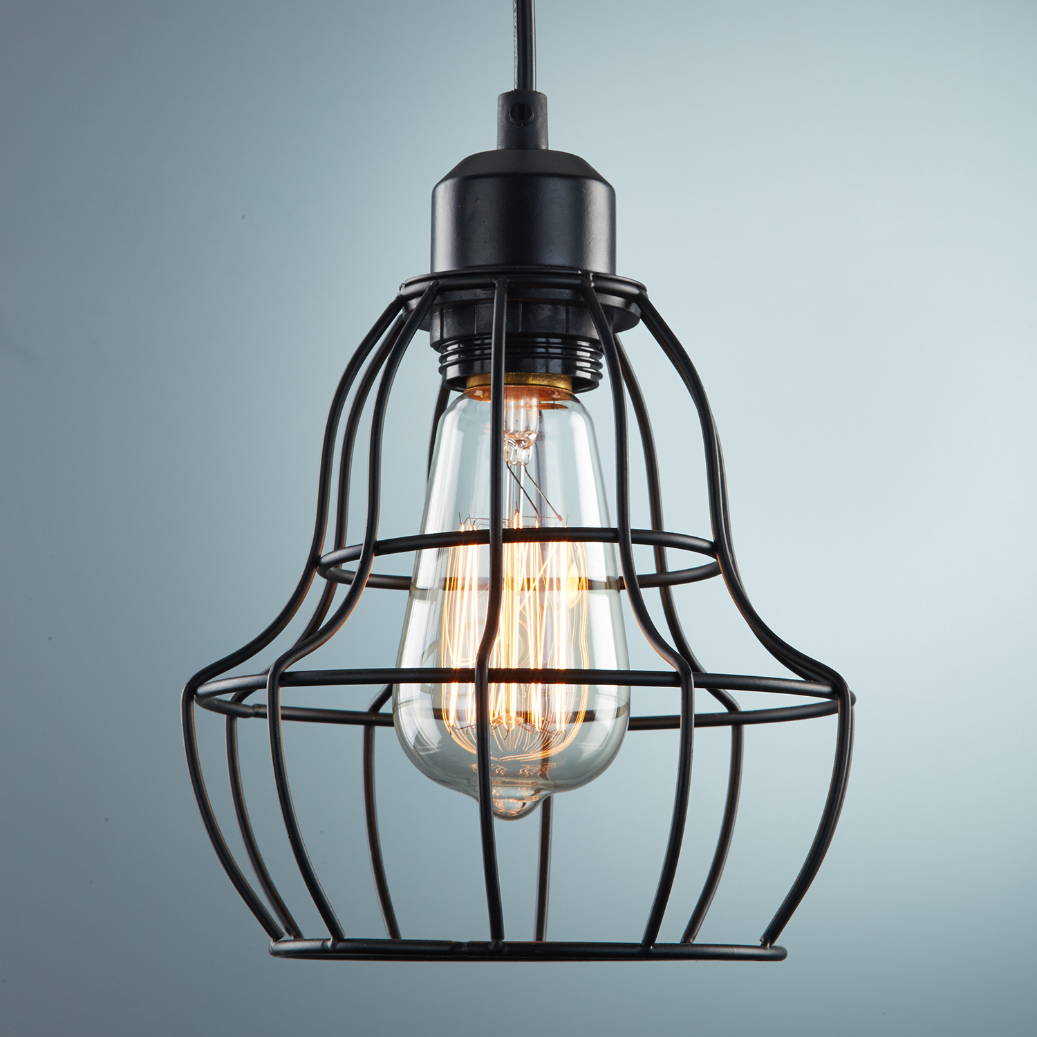Handmade Vintage Industrial Metal Wire Cage Pendant Light